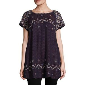 Free People • embroidered tunic top